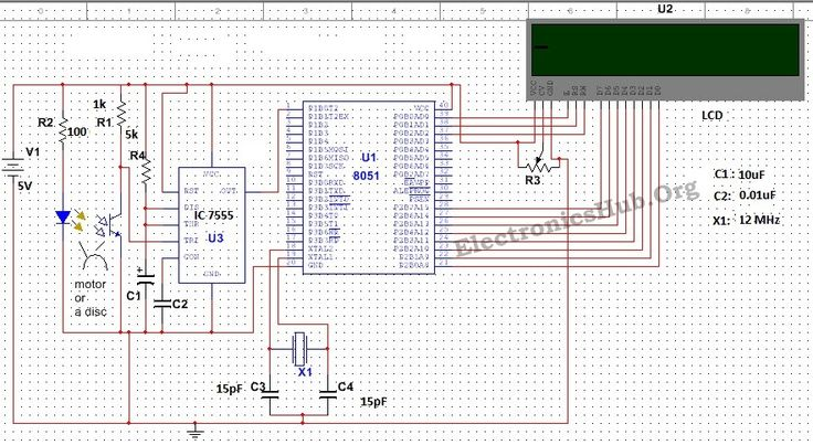 Contactless Digital Tachometer Using 8051 Microcontroller