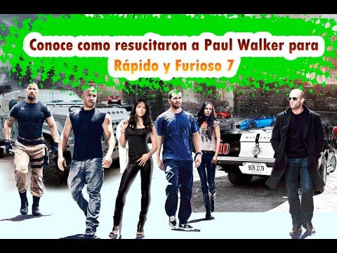 Conoce como resucitaron a Paul Walker para Rápido y Furioso 7.   #ElCondorMilenario, #Peliculas, , #RapidoyFurioso, #Noticias, #Nuevo, , #Parte7 , #VinDiesel,
