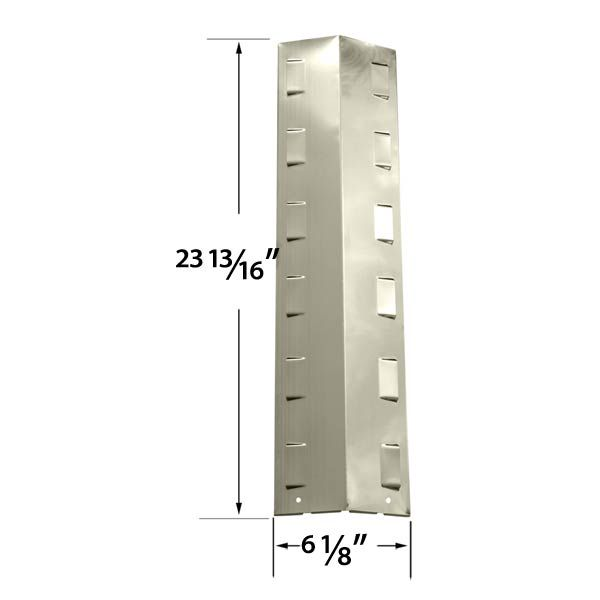REPLACEMENT STAINLESS STEEL HEAT SHIELD FOR RANGE MASTER, BBQ GRILLWARE GPF2414, GPF2414C, GPF2414NS GAS GRILL MODELS  Fits Range Master: 463721310 , 463722511  BUY NOW @ http://grillrepairparts.com/shop/grill-parts/stainless-heat-shield-for-bbq-grillware-gpf2414-gpf2414c-gpf2414ns-gas-models/