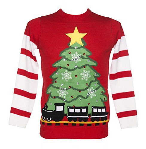 Unisex Retro Red LED Lightup Christmas Tree And Train Jumper from Cheesy Christmas Jumpers Cheesy Christmas Jumpers http://www.amazon.co.uk/dp/B00OES054K/ref=cm_sw_r_pi_dp_zFQ-vb0XM4FEE