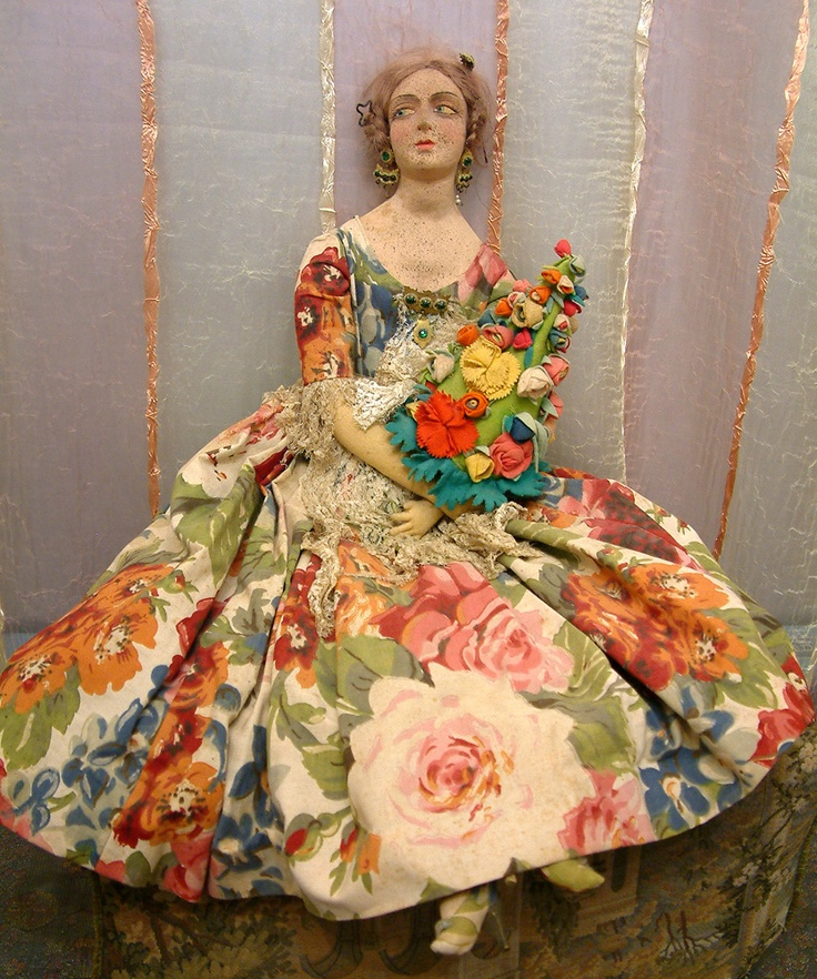"""VERY RARE 29"""" SPANISH PAGES MUNECAS FASHION LADY ANTIQUE DOLL"""