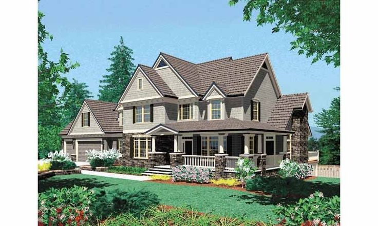 Floor Plan AFLFPW01620 - 2 Story Home Design with 4 BRs and 3 Baths