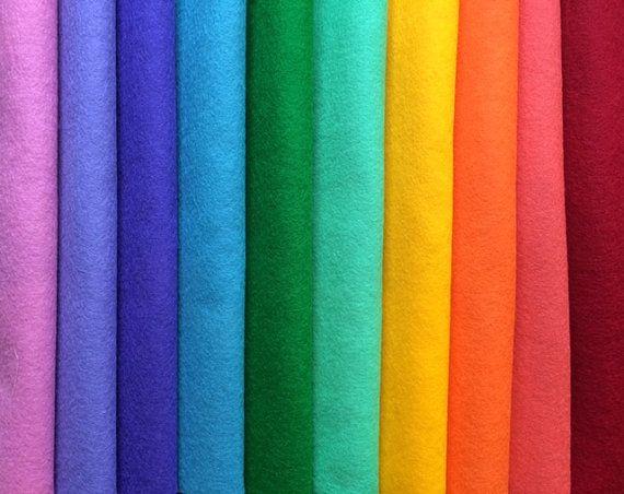 PURE WOOL FELT10 Rainbow ColoursStuffed AnimalsWaldorf