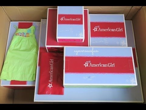 Opening American Girl Doll Sale Package Haul (Egg Decorating Set and Friends Are Sweet Set ) - YouTube