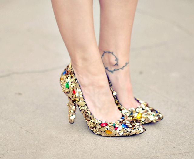 DIY..probably never wear these nor ever try to make them, but i think they're cute