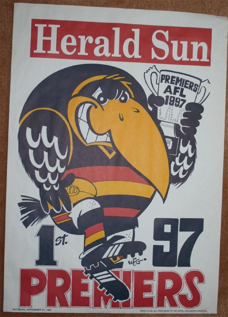 Weg Premiers Poster 1997 Adelaide Crows