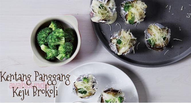 Kentang Panggang Keju Brokoli :: Broccoli Cheese Baked Potatoes :: Klik link di atas untuk mengetahui resep kentang panggang keju brokoli