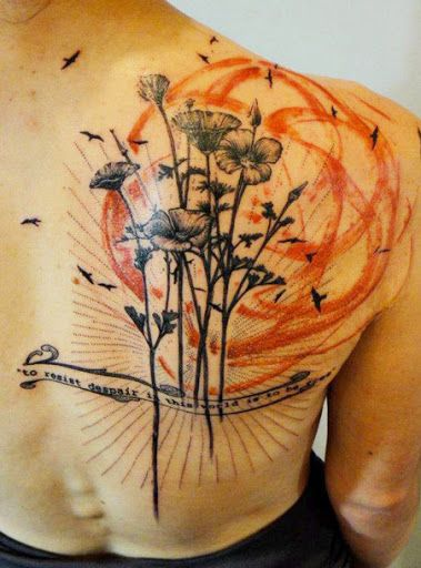 Abstract Flowers Tattoo by Xoil Tattoo?