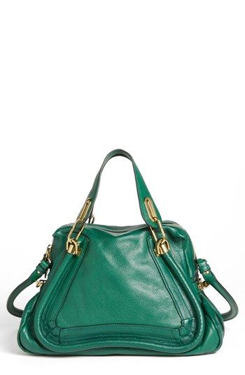 Chloe leather satchel. Adding to the wish list.: Arm Candy, Leather Satchel, Chloé Parati, Chloe Leather, Chloé Medium, Green Arm, Awesome Handbags, Handbags Addiction, Medium Parati