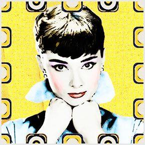 Audrey Hepburn. Quadrinhos confeccionados em Azulejo no tamanho 15x15 cm.Tem um ganchinho no verso para fixar na parede. Inspirados em divas do cinema. Para entrar em contato conosco, acesse: www.babadocerto.com.br