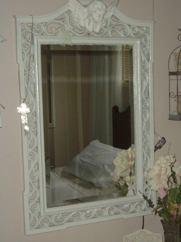 Open work bevelled mirror