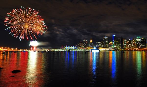 CanadaDay Fireworks - Vancouver