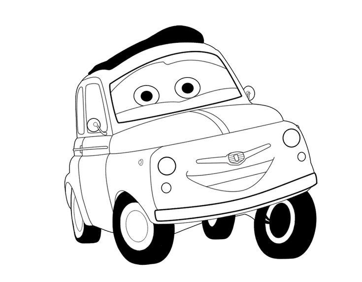 Cars motori ruggenti disegno da colorare disegni