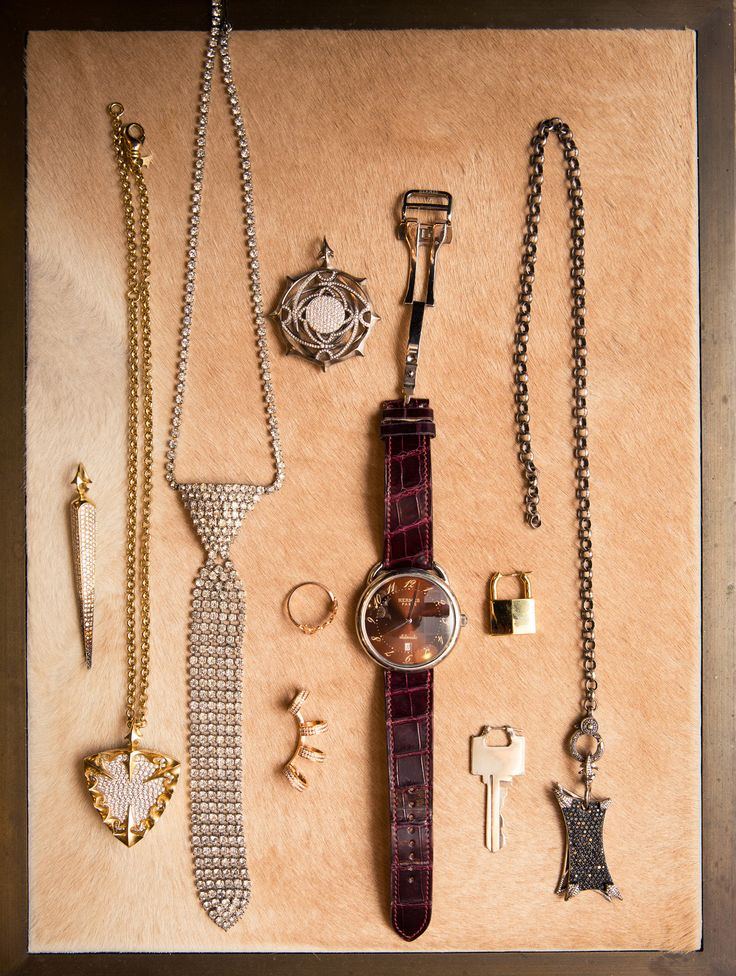 Inside Finery Founder Whitney Casey's Closet: When someone has as much energy and personality as Casey does, they usually have a wardrobe to match, which was exactly the case when we finally dug into the goods in her bedroom-sized-by-NYC-standards closet. -- Assorted jewelry in gold and silver  |  coveteur.com
