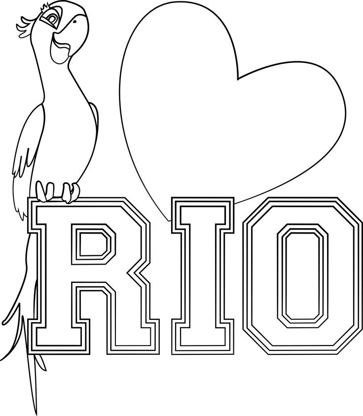 22 best Rio Rio2 Movies Coloring Pages images on Pinterest