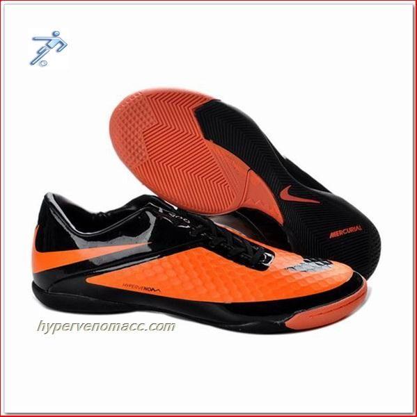 Sports Authority Boys Football Cleats Nike HyperVenoms Phantom IC Shoes Orange Black