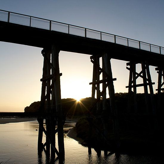 Bridge #3 Photograph by Clancefncypants. Old Kilcunda train bridge by sunset. Kilcunda, Vic, Australia.