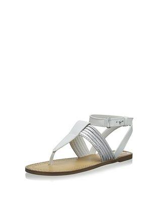 46% OFF Kelsi Dagger Women's Static Dress Sandal (White/Silver)