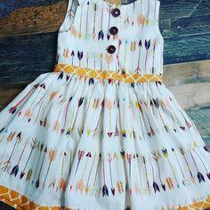 Trendy Arrow Print Toddler Holiday Dress by LittleMaeSunshine