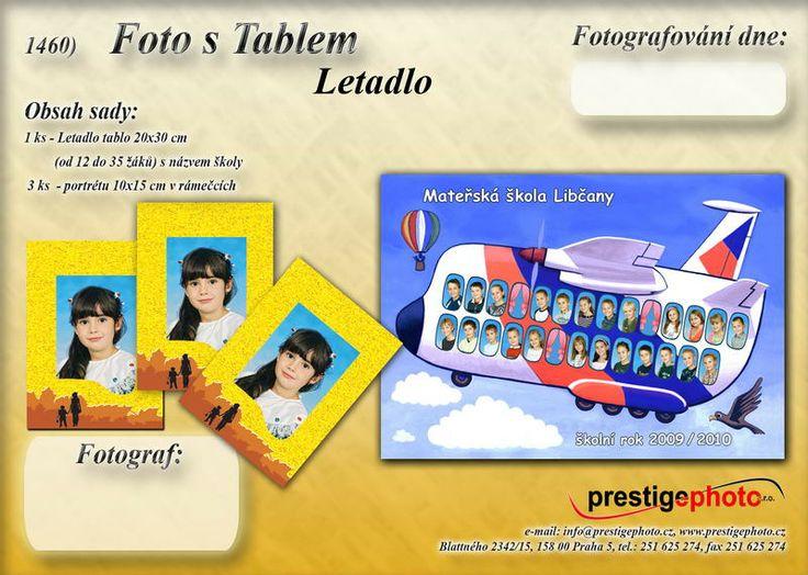 1460 Foto s tablem, letadlo