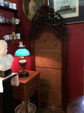 "Fabulous Carved Wood Antique Frame   76"" High x 30"" Wide   $750  Butler Creek Antiques Dealer #8804  Lucas Street Antiques 2023 Lucas Dr. Dallas, TX 75219  Like us on Facebook: https://ww"