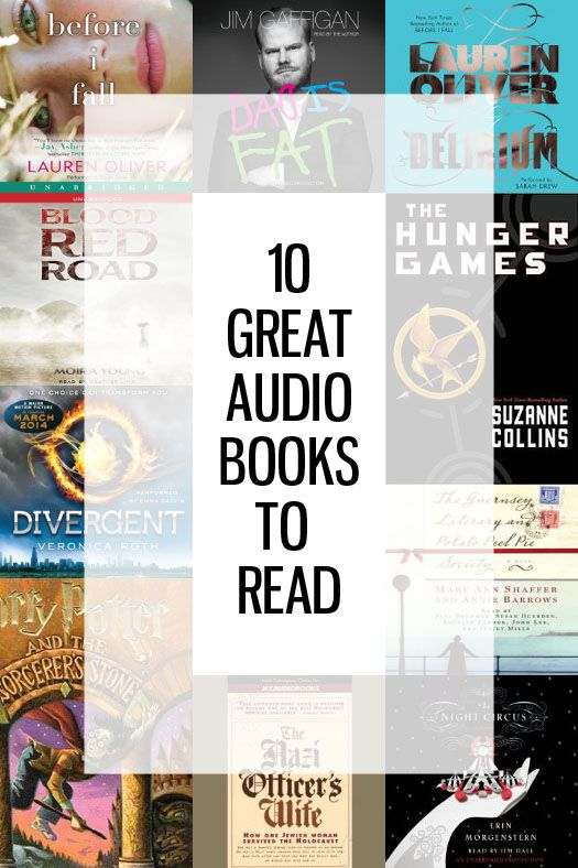 10 Great Audio Books to Read - I love listening to books while I work out :)