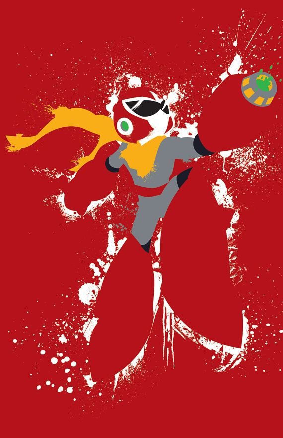 Mega Man Protoman and Bass Poster Set by TheDailyRobot on Etsy