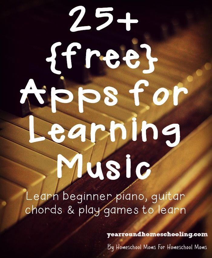 25+ free Apps for Learning Music - http://www.yearroundhomeschooling.com/25-free-apps-learning-music/