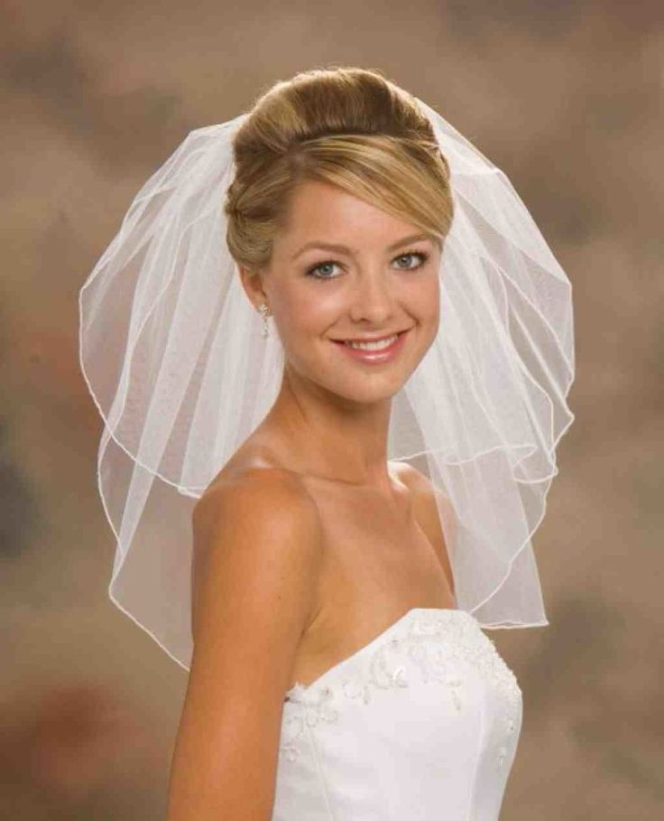 Elegant Bridal Updos With Veil