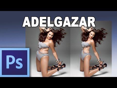 ▶ Como adelgazar con photoshop - Tutorial Photoshop en Español (HD) - YouTube