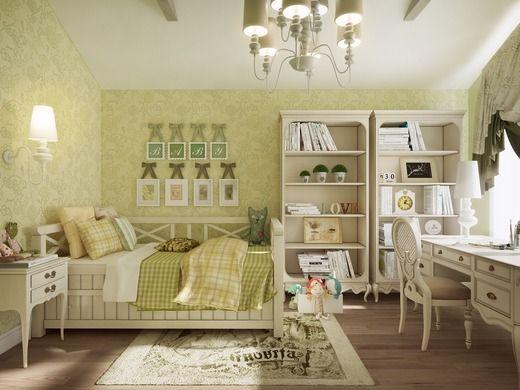 комната для девочки прованс зеленая - Поиск в Google