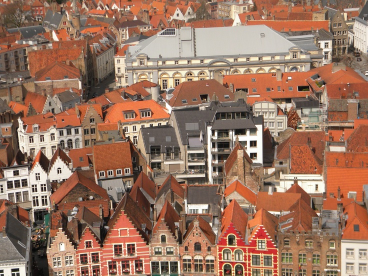 Breathtaking view from the Belfort tower in Brugge