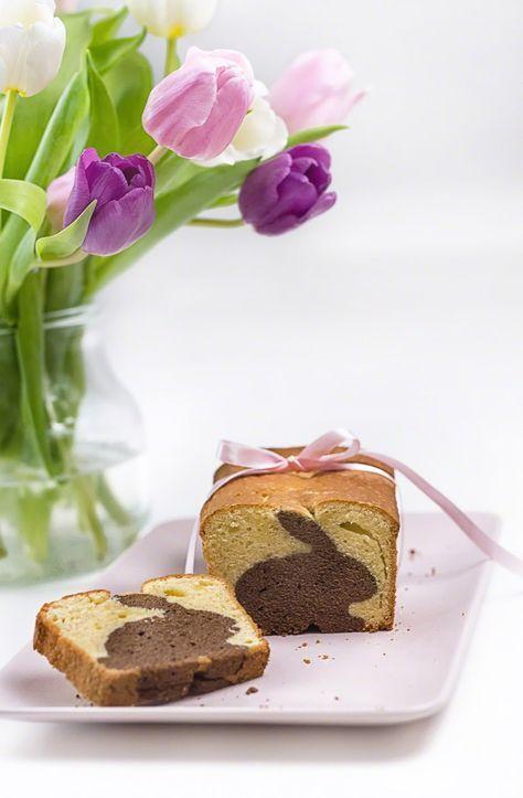 Rezept: Kuchen mit Hasenform zu Ostern backen