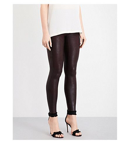 SPANX High-Rise Faux-Leather Leggings. #spanx #cloth #pants