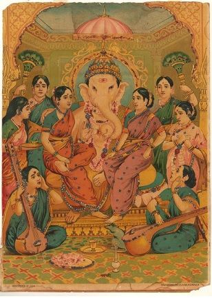 Image result for raja ravi varma painting ganesh
