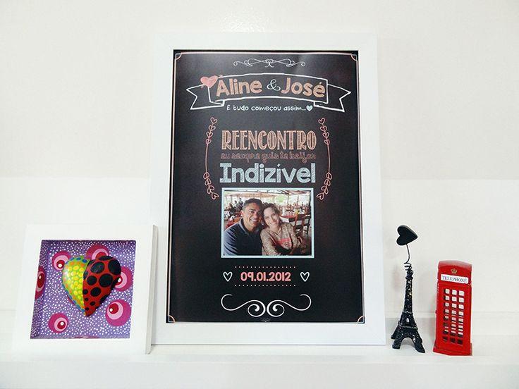 Um presente original e criativo para registrar o amor do casal Uma lembrança para o resto da vida. A arte é produzida na medida A4 (21x29,7cm) É impresso em papel couche 250g com impressão digital. Você pode escolher o presente já emoldurado, impresso ou apenas no digital.