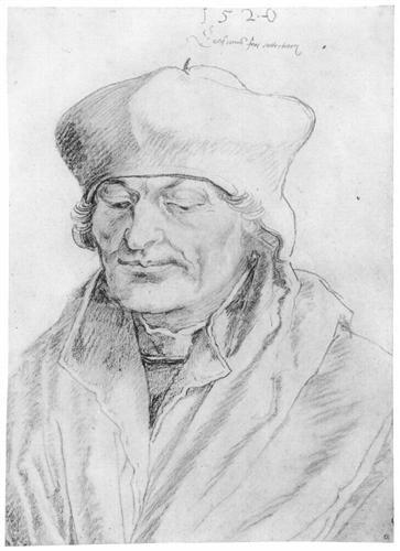 Portrait of Erasmus of Rotterdam  - Alberto Durero