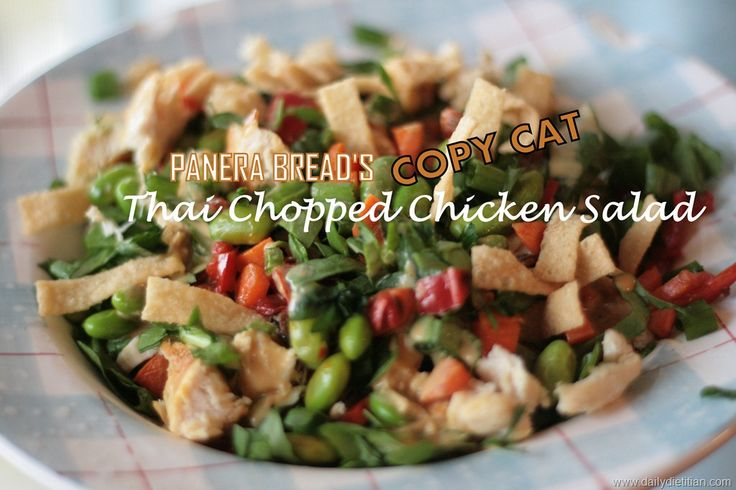 Panera Bread's Copy Cat Thai Chopped Chicken Salad | Daily Dietitian