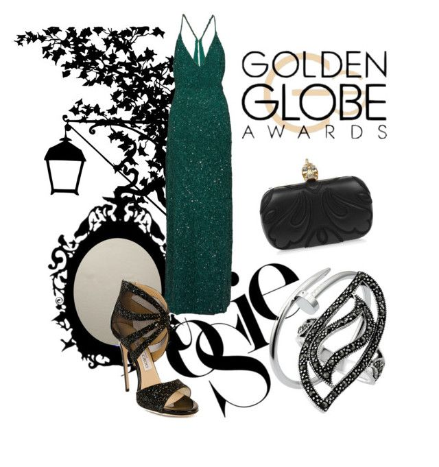 On time #Globes by sofia-ios on Polyvore featuring polyvore, fashion, style, Mikael Aghal, Jimmy Choo, Emma Cook, BERRICLE, Cartier and Whiteley