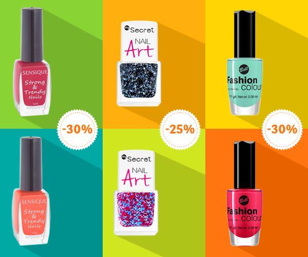 Kolorowo w karnawale – promocja lakierów do paznokci  W Drogeriach Natura można kupić lakiery do paznokci w promocyjnych cenach  – nawet do 30% taniej. Promocja dotyczy  wybranych marek obowiązuje do 21.01 lub do wyczerpania zapasów.