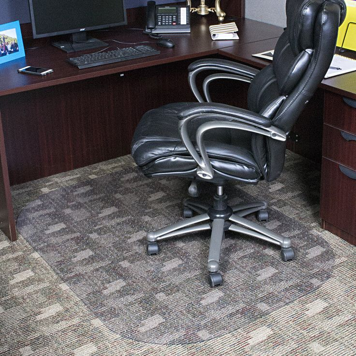Evolve Modern Rectangle Office Low and Medium Pile Carpet Beveled Edge Chair Mat