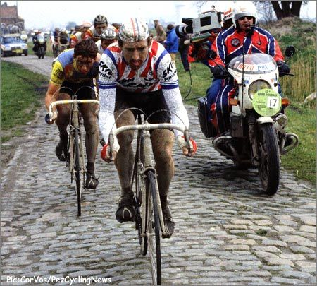 Sean Kelly at Paris Roubaix (84 or 85)