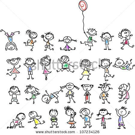 Cute happy cartoon kids by Virinaflora, via Shutterstock