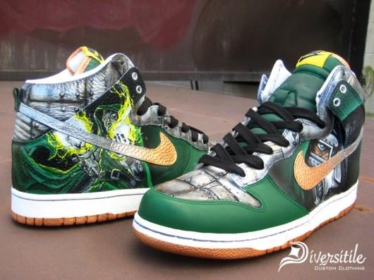 Custom Kicks - Nike Dunk Highs - Dr. Dooms | KicksOnFire | KICKS |  Pinterest | Nike dunks