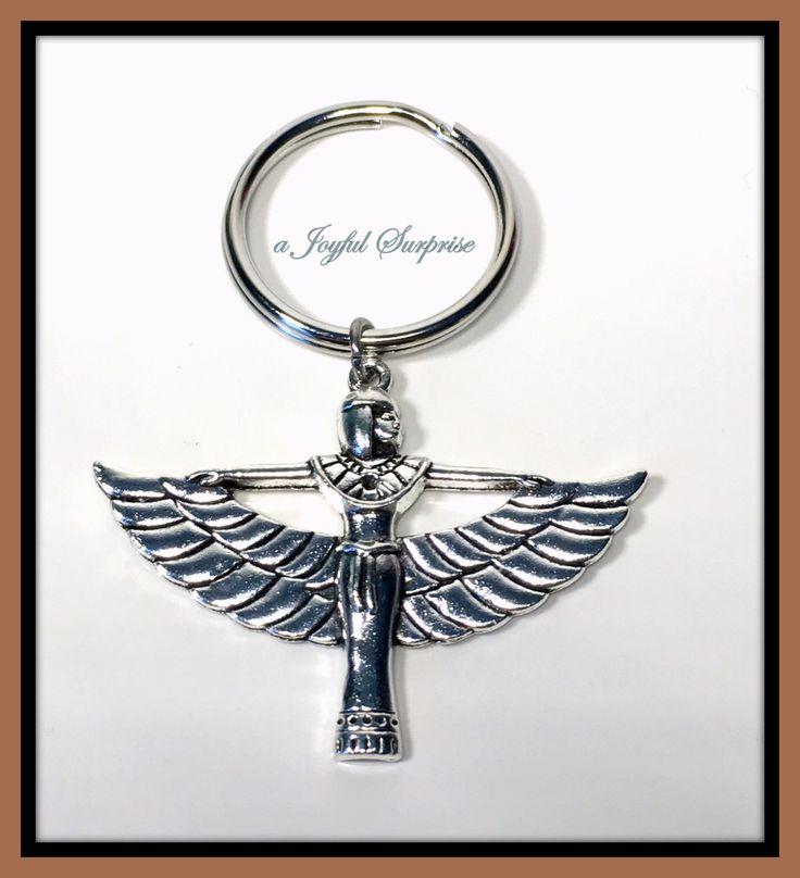 Goddess Cleopatra Keychain, Egyptian Goddess Keyring, Art Deco Key Chain, Cleopatra Jewelry, Pewter Cleopatra Key ring  A personal favorite from my Etsy shop https://www.etsy.com/ca/listing/264928972/goddess-cleopatra-keychain-egyptian