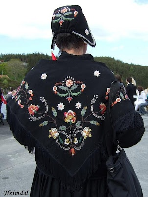 "Norwegian ""bunad"" hand embroidered and proudly worn at special events"