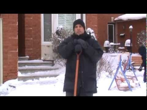 Toronto Chiropractor Tips - How to Shovel Snow. www.welcome-back.ca