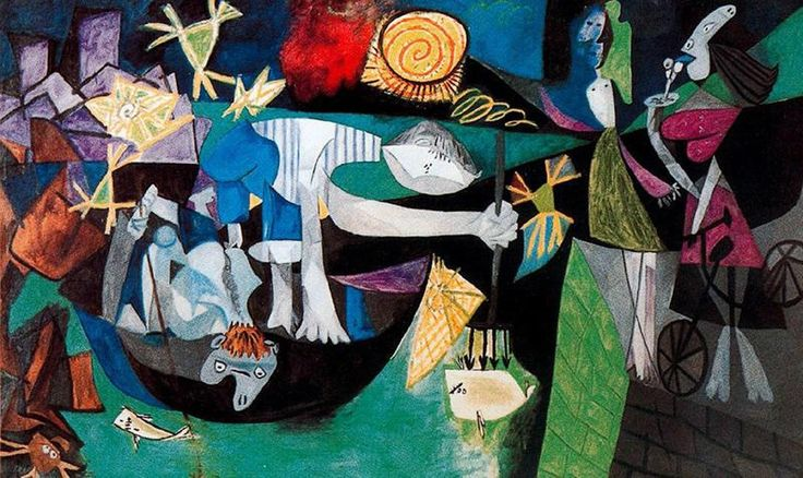 Night Fishing at Antibes, 1939 by Pablo Picasso Paintings,for Sale,High Quality,abstract Art,oil Painting Canvas,Home Decor,Hand-painted from Kixhome,$44.58 | DHgate.com