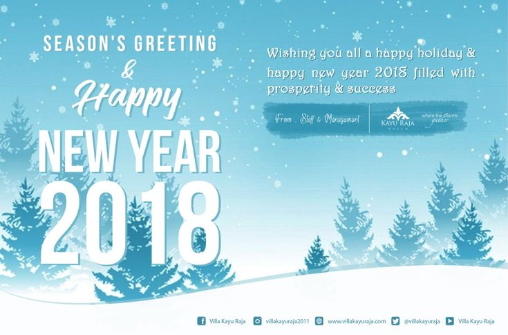 Season's Greeting & Happy New Year 2018 Wishing you all a happy holiday & happy new year 2018 filled with prosperity & success . www.villakayuraja.com . #happy #newyear #2018 #holiday #liburanseru #villakayuraja #VisitBali