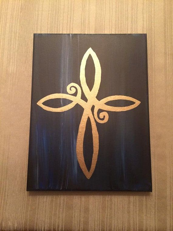 infinity Cross Canvas by SarahCanPaint on Etsy                                                                                                                                                                                 More